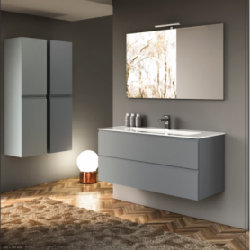 Meuble de salle de bain suspendu 120cm Collection UNIQ Q20