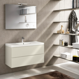 Meuble de salle de bain suspendu 100cm Collection UNIQ Q15