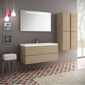 Meuble de salle de bain suspendu 120cm Collection UNIQ Q14
