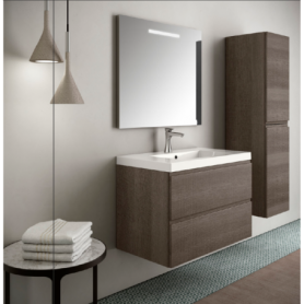 Meuble de salle de bain suspendu 80cm Collection UNIQ Q13