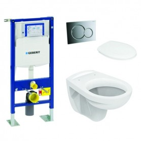 Pack WC suspendu UP320 + Sigma01 chromé + Cuvette Ulysse + abattant Soft-close