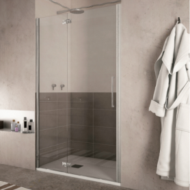Porte de douche battante, verre 6mm transparent  FONT Porta