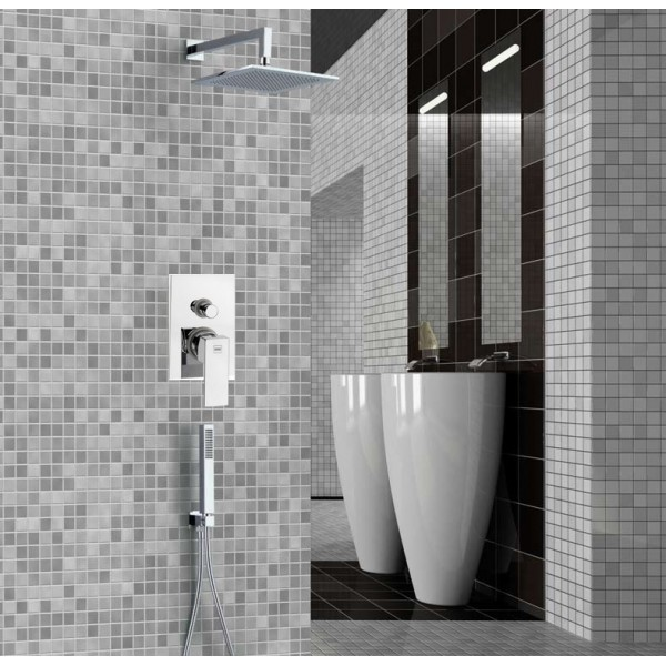 Douche encastrable perfect colonne de douche kinse systme - Douche encastrable plafond ...