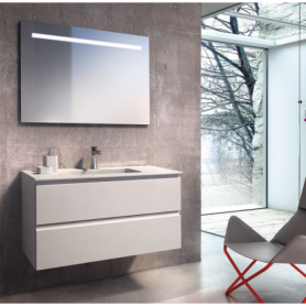 Meuble de salle de bain suspendu 100cm Collection NEXT