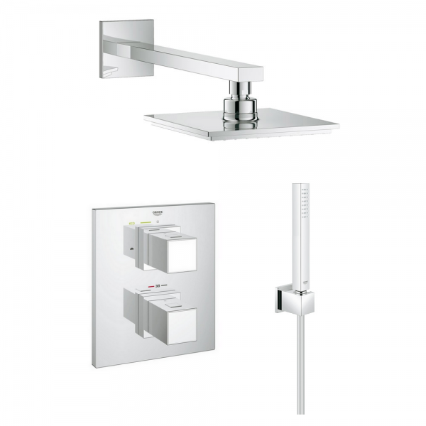 kit de douche encastrable thermostatique eurocube euphoria grohtherm 3000 - Grohe Douche Encastrable