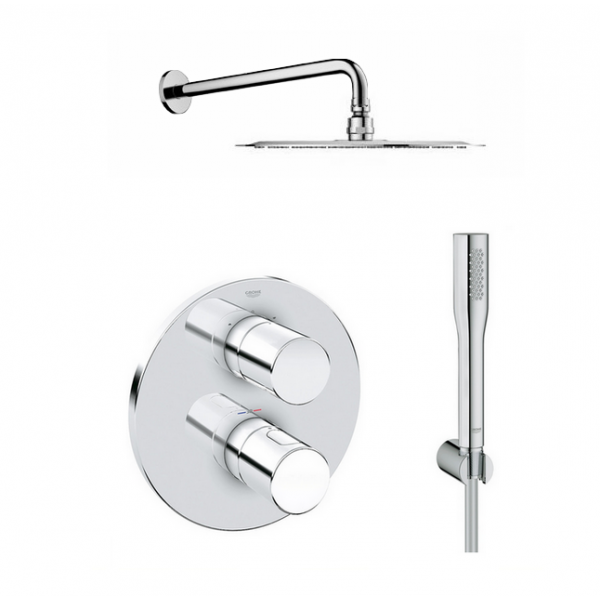 Robinetterie thermostatique douche encastrable - Colonne de douche encastrable ...