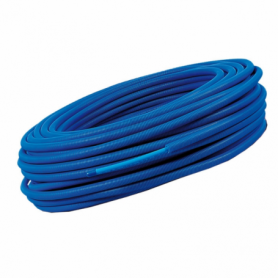 Tube PER bleu gainé 13x16, couronne de 100m