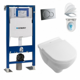 Pack wc suspendu UP320 Duofix + cuvette DirectFlush O.NOVO abattant Soft-Close Villeroy & Boch