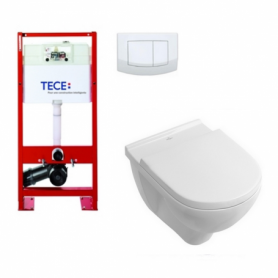 Pack wc suspendu TECEBase + cuvette DirectFlush O.NOVO abattant Soft-Close Villeroy & Boch