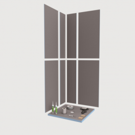 Kit douche complet 90x90cm  WEDI SHOWER-KIT Réf 073737/100