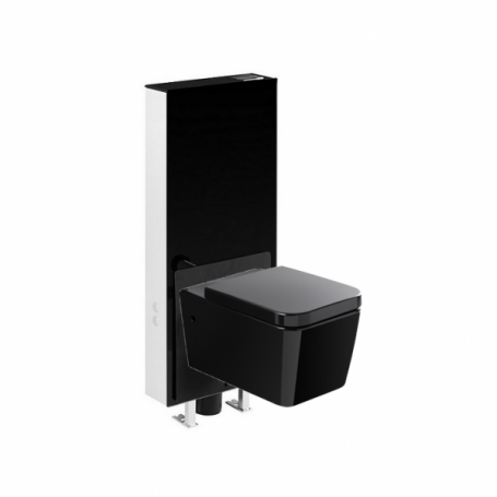 Pack wc suspendu sanglass wall cuvette advance abattant cps distribution - Cuvette wc suspendu noir ...